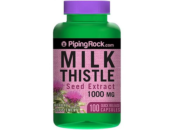 Piping Rock Milk Thistle Seed Extract 1000 mg 100 Quick Release Capsules Herbal Supplement