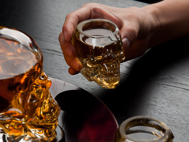 Normally $100, this decanter set is 50 percent off