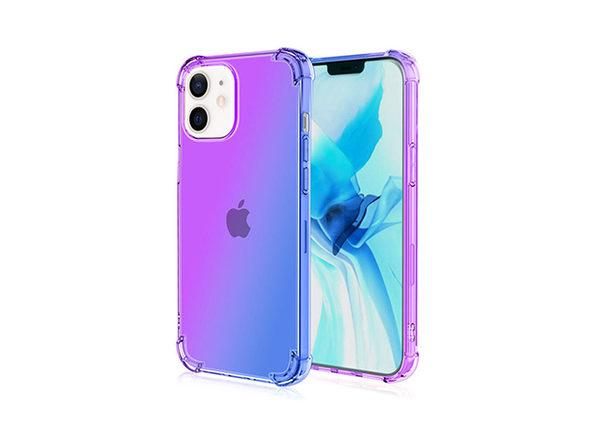 iPhone 12 mini Dual Tone Case Purple & Blue - Product Image