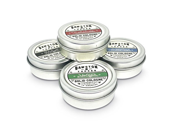 Bawston & Tucker Solid Cologne Sampler Set: 4-Pack