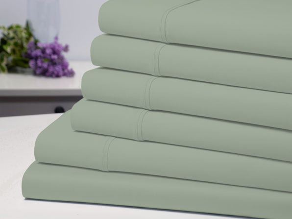 Bamboo Comfort 4 Piece Luxury Sheet Set - Sage (Twin)