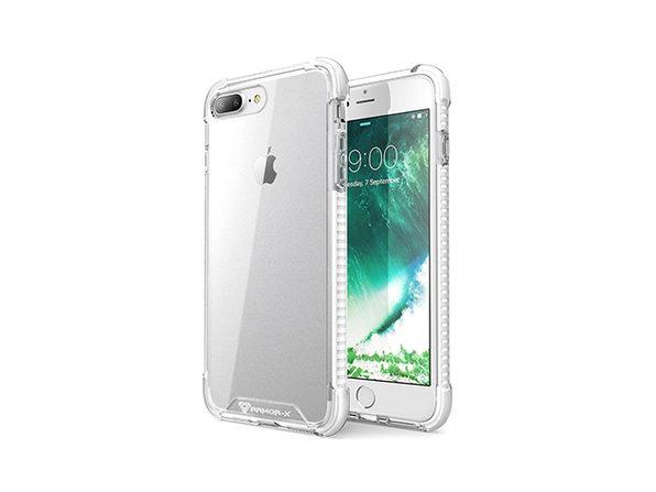 iPhone 7 Plus Shockproof Dual TPE Case (White)