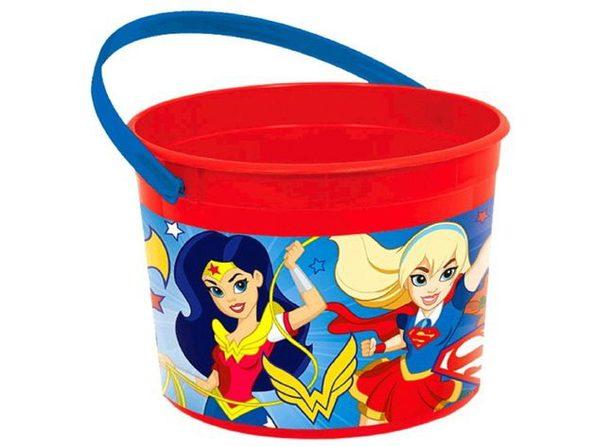 DC Superhero Girl Plastic Bucket Container (1 pc)