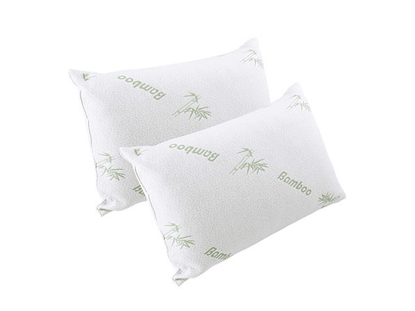 Comfort-In-A-Bag Bamboo Pillows: 2-Pack