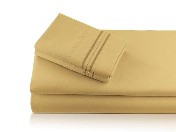 Bali Bamboo Luxury 6-Piece Gold Sheet Set