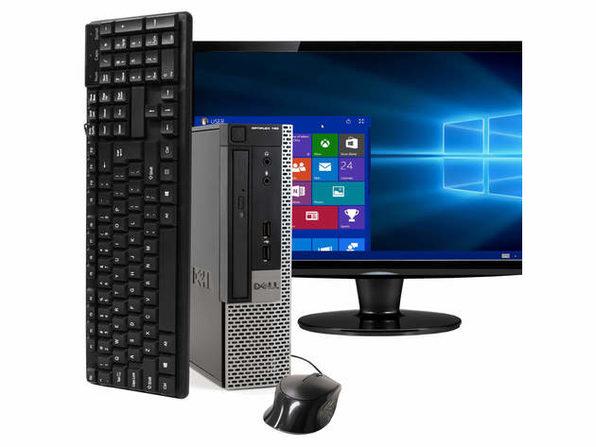"""Dell OptiPlex 790 Ultra Small Form Factor PC, 3.3GHz Intel i7 Quad Core Gen 2, 8GB RAM, 240GB SSD, Windows 10 Home 64 bit, 22"""" Screen (Renewed)"""