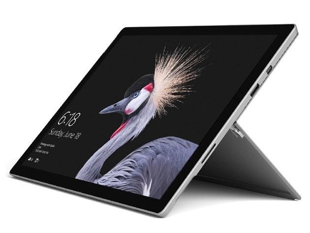 A Surface Pro laptop.