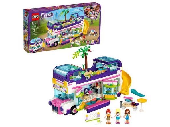 Lego Friends Friendship Bus Toy Block Building Kit, 778 Pieces, For Age 8+, Multicolored (New Open Box)