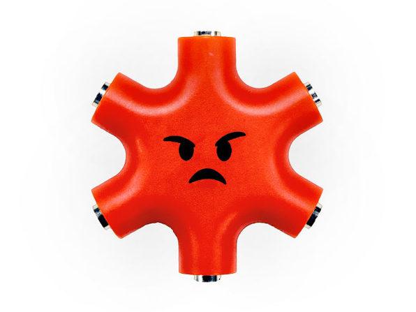 CuTech 5-Way Headphone Splitter (Red)