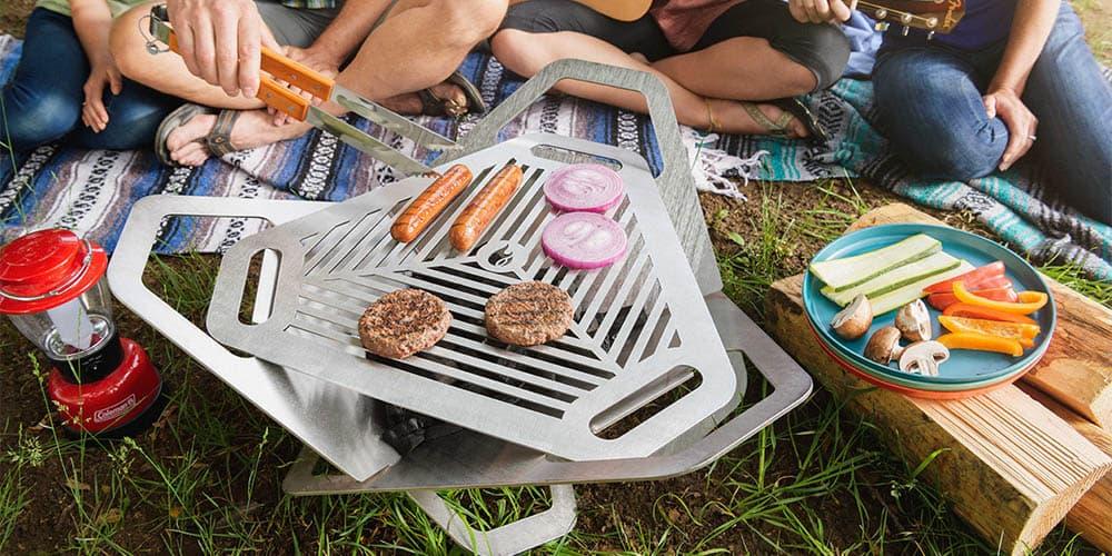 Fireflower Original Fire Pit + Grill,