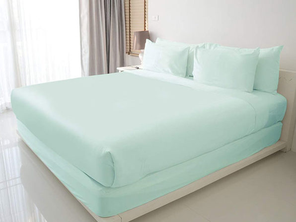 100% Egyptian Cotton Sheet Set (Aqua/King)