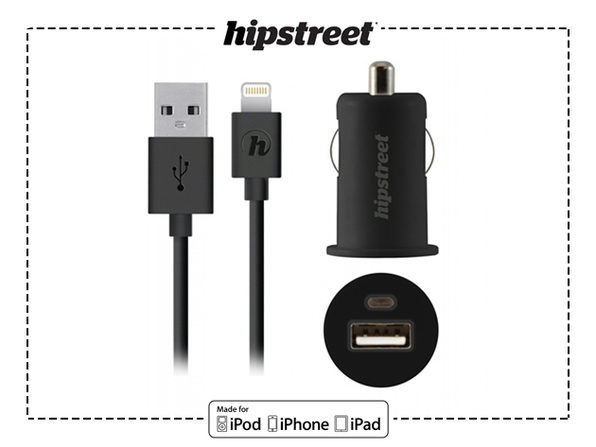 MiFi Certified Lightning Cable + Car Charger - Product Image