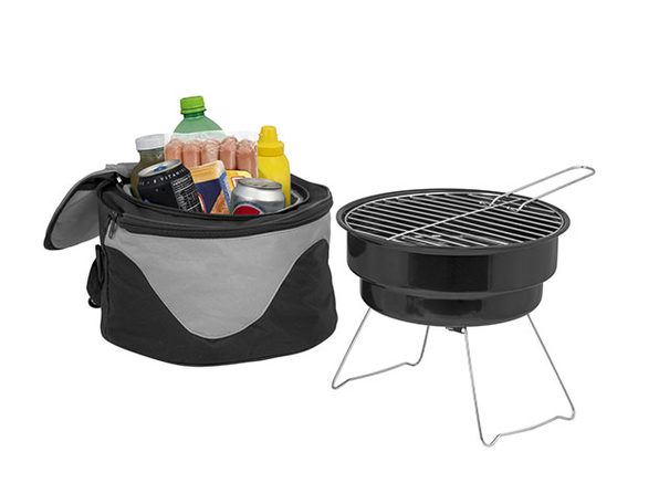 The Backyard Portable Barbecue Grill & Cooler Combo