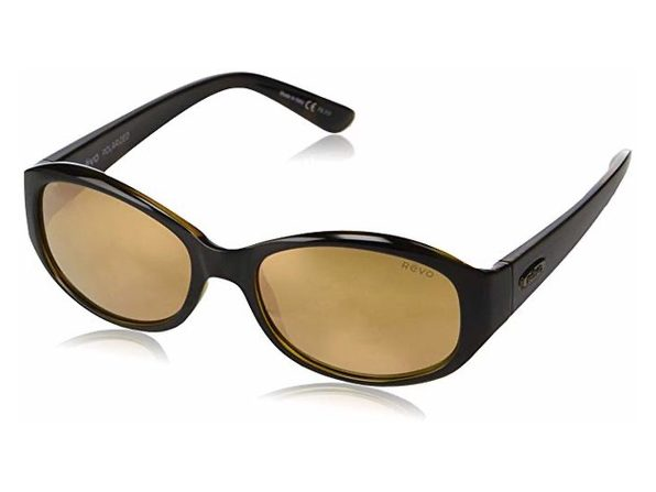 Revo Unisex RE 1064 01 CH Allana Wraparound Polarized Sunglasses Brown - Product Image