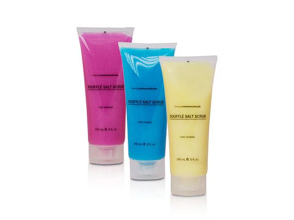BeautyCosmeceuticals Dead Sea Salt Scrub 3-Pack (Blueberry, Lemon, Raspberry) - Product Image