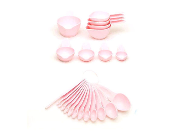 POURfect 22-Pc Measuring Spoon & Cup Set (Pink)