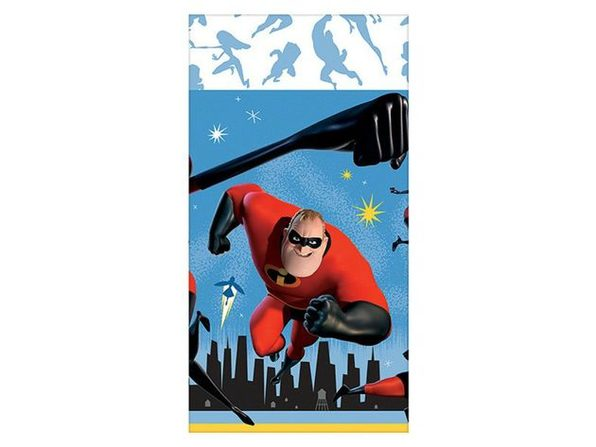 """Party Supplies - Incredibles - Table Cloth - 54""""X108"""" - Product Image"""