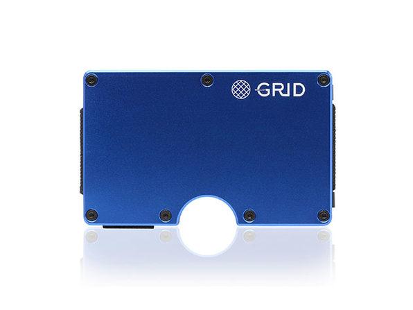 Grid Wallet (Blue Aluminum)