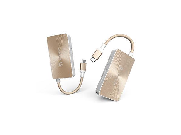 CASA Hub + PeAk USB Adapter Bundle (Rose Gold)