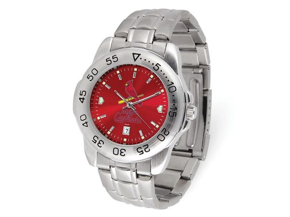 MLB Mens St Louis Cardinals Sport Steel Watch - Product Image
