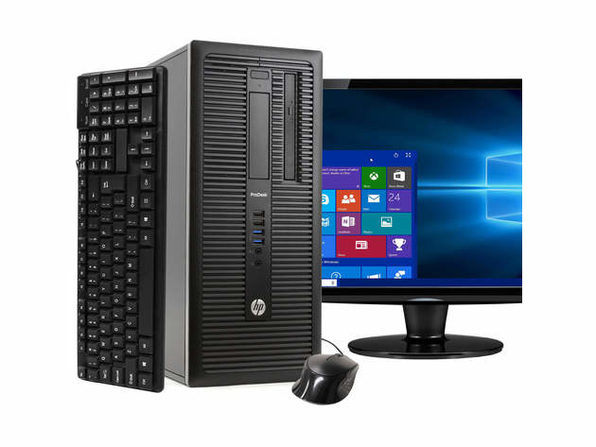 "HP ProDesk 600G1 Tower PC, 3.2GHz Intel i5 Quad Core Gen 4, 8GB RAM, 2TB SATA HD, Windows 10 Home 64 bit, 22"" Screen (Renewed)"