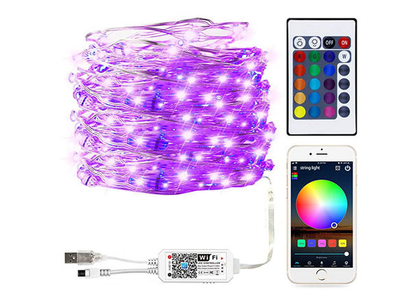 Smart Wi-Fi Control RGB Fairy String Light