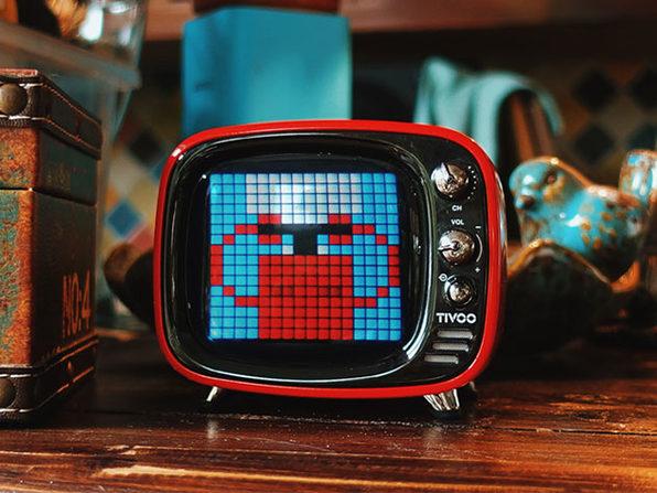 TIVOO Pixel Art Bluetooth Speaker (White)