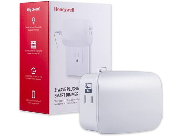 Honeywell UltraPro Smart ZWave Plus Light Dimmer Switch Dual Outlet PlugIn-White (Like New, Damaged Retail Box)