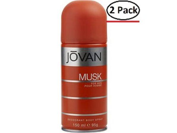 JOVAN MUSK by Jovan DEODORANT BODY SPRAY 5 OZ (Package of 2) - Product Image