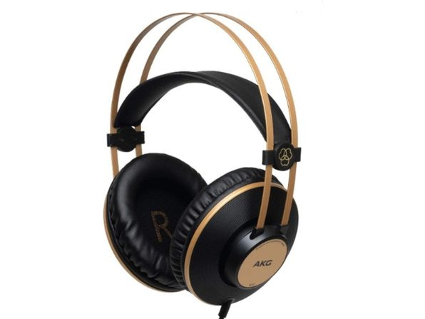 AKG Pro Audio K92 Over-Ear Closed-Back, Studio Headphones - Matte Black and Gold