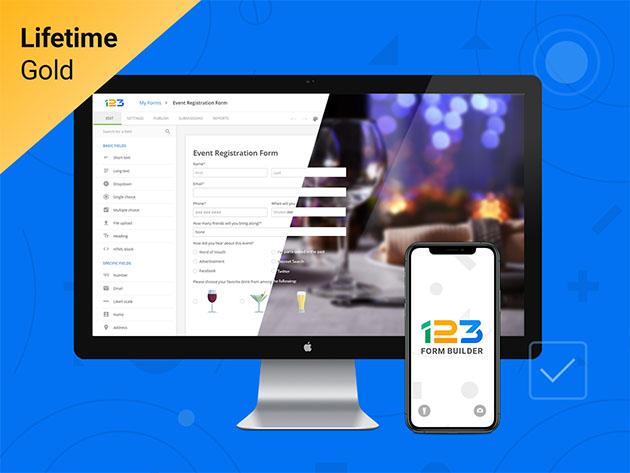 Stack Social Deal for 123FormBuilder Gold Plan: Lifetime Subscription