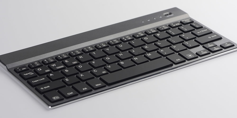 A wireless keyboard