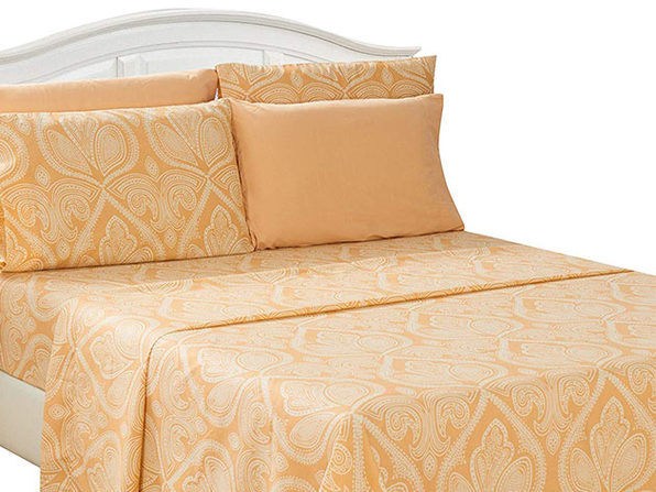 Paisley Sheet 6 Pcs Taupe - Full - Product Image