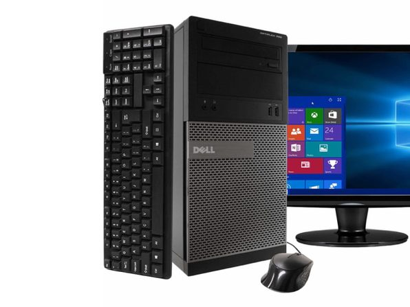 "Dell Dell 390 Tower PC, 3.2GHz Intel i5 Quad Core Gen 2, 8GB RAM, 120GB SSD, Windows 10 Professional 64 bit, 22"" Screen (Renewed)"