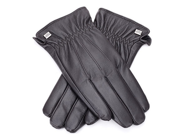 Cold-Weather Leather Gloves (Espresso/Medium)