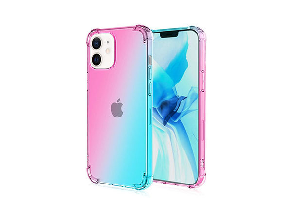 iPhone 12/12 Pro Dual Tone Case Pink & Teal - Product Image
