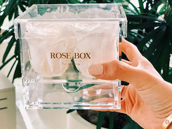 Rose Box™ 4-Rose Jewelry Box (Pure White)