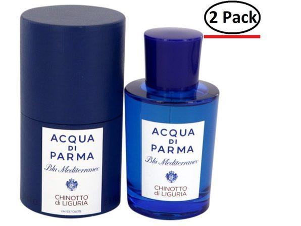 Blu Mediterraneo Chinotto Di Liguria by Acqua Di Parma Eau De Toilette Spray (Unisex) 2.5 oz for Women (Package of 2)
