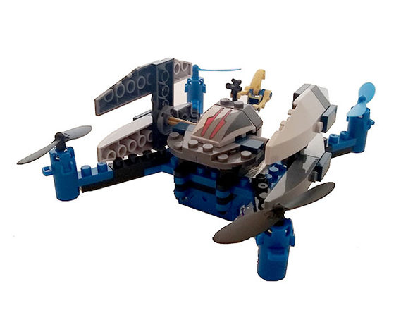 Space Fighter Building Block Drone - Snow Shooter - Product Image