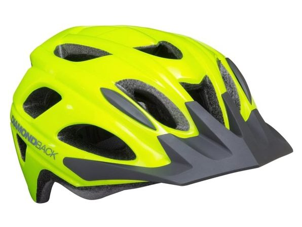 Diamondback Trace Adult Bike Helmet 55-60cm Circumference, Large - Flash Yellow (New)