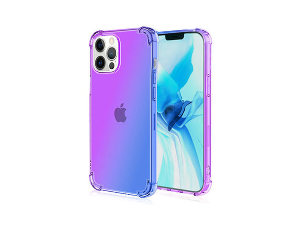 iPhone 12 Pro Max Dual Tone Case Purple & Blue - Product Image