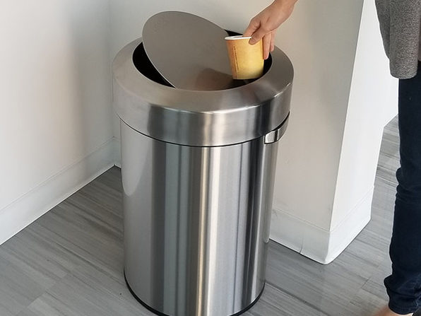 iTouchless Titan 17-Gallon Swing-Top Stainless Steel Trash Can