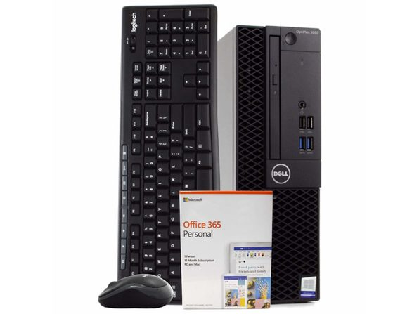 Dell 3050 Small Form Desktop PC, Intel i5-6500 3.2GHz, 8GB RAM, 500GB HDD, Windows 10 Pro, Microsoft Office 365 Personal, Wireless Keyboard & Mouse, New 16GB Flash Drive, DVD, WiFi (Renewed)