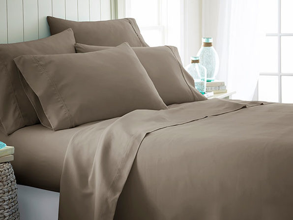 iEnjoy Home Taupe 6-Piece Sheet Set