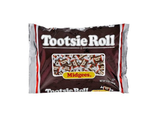 Tootsie Roll Delicious Cocoa Irresistible and Chewy Taste Artificial and Natural Flavors Midges, 12 Ounce - Product Image