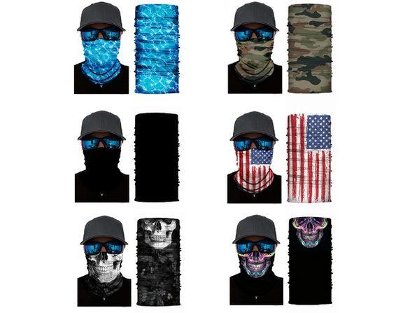 Jordefano Face Cover Mask Neck Gaiter with Dust UV Protection Tube Neck Warmer- Pack of 5 - Black
