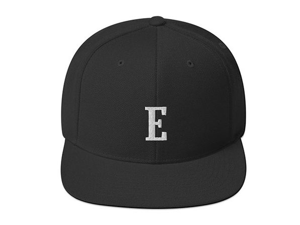 Elevator Pitch Buttons Black Snapback Hat