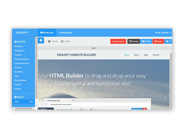Dragify HTML + WordPress Website Building Contractor Bundle