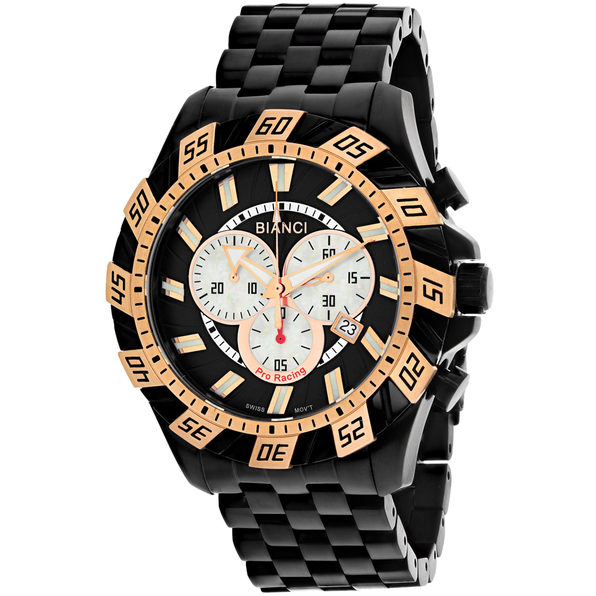 Roberto Bianci Men's Valentino Black Dial Watch - RB70605