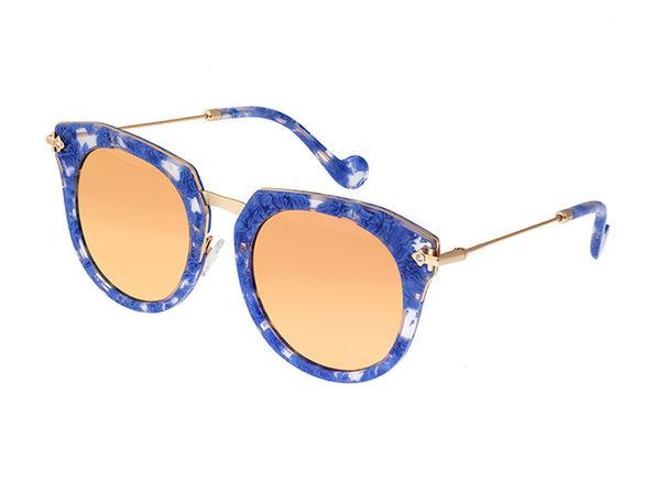 Bertha Aaliyah Cateye Sunglasses (Blue Tortoise)